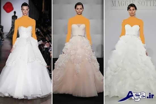 لباس عروس دکلته 2016