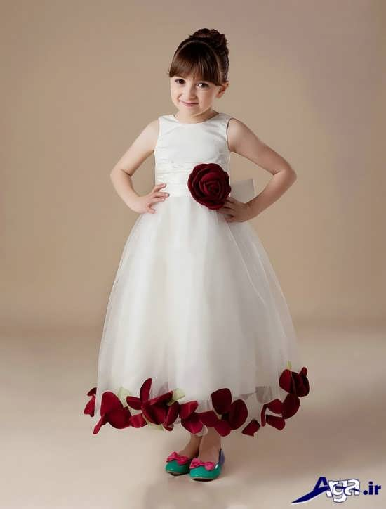 انواع مدل لباس عروس بچه گانه