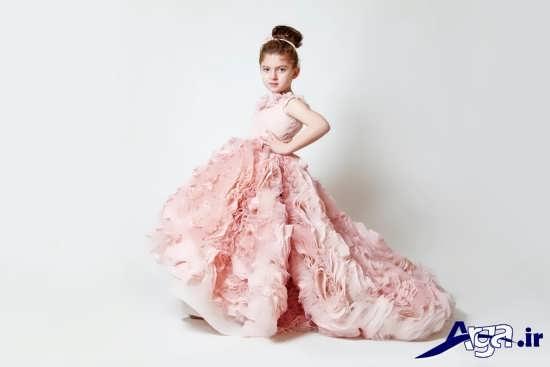 لباس عروس دخترانه دنباله دار