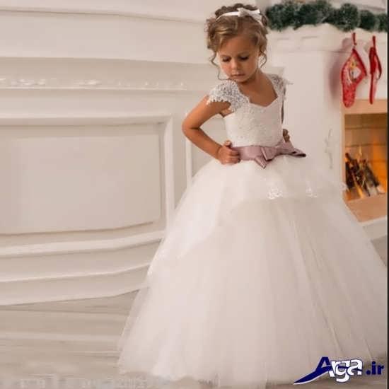 مدل لباس عروس بچه گانه پفی