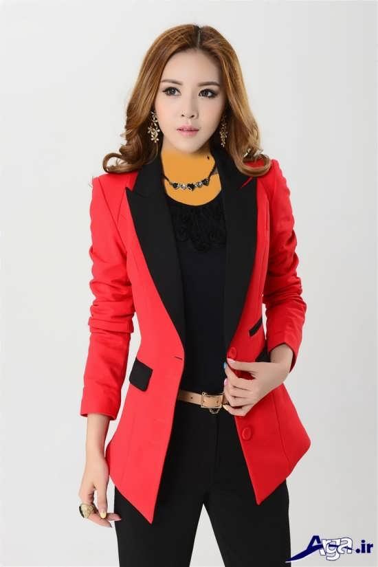 مدل کت بلند و جیب دار زنانه کره ای