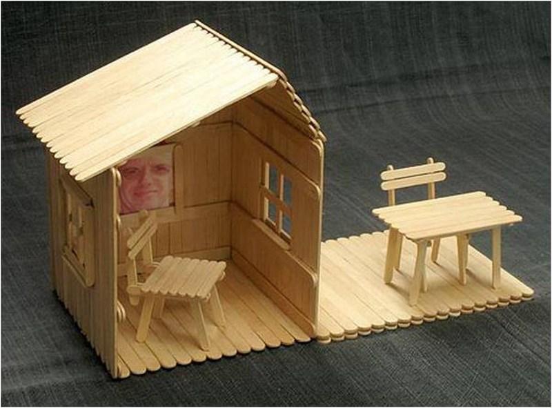 کاردستی با چوب ساده و زیبا