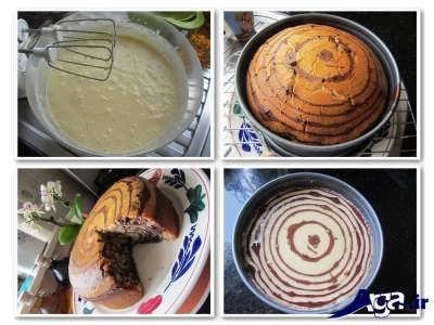 روش تهیه کیک زبرا