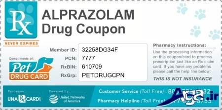 alprazolam drug card