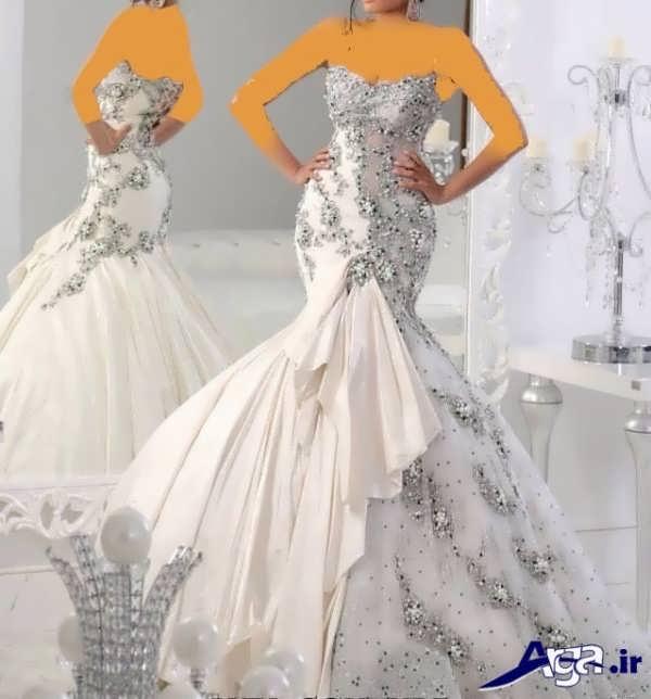 لباس عروس عربی مدل ماهی