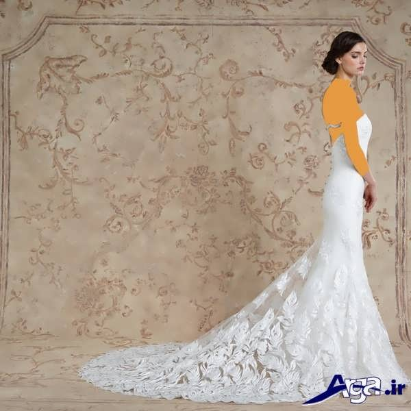 لباس عروس عربی دنباله دار