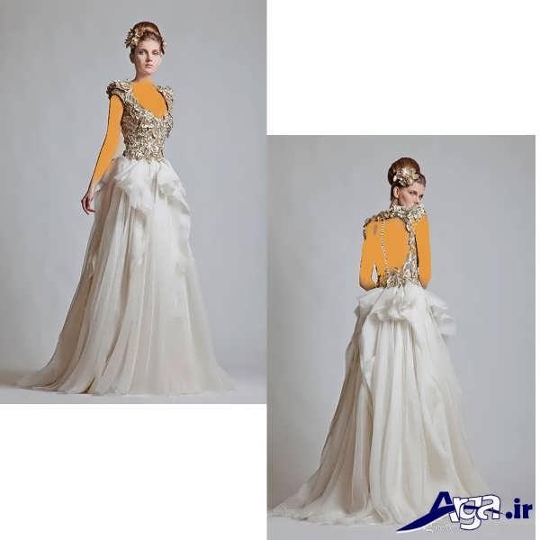 لباس عروس عربی مدرن و شیک
