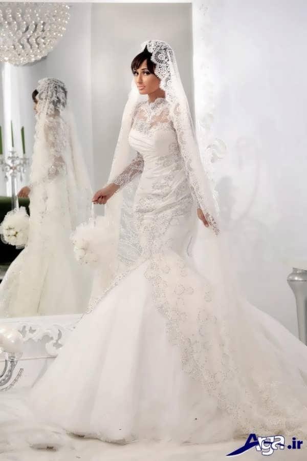 لباس عروس عربی پوشیده جدید