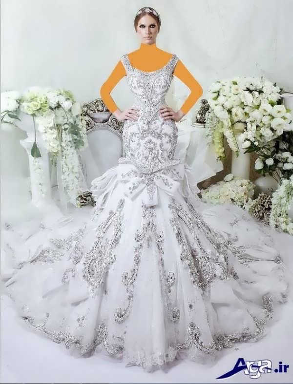 لباس عروس عربی فوق العاده شیک