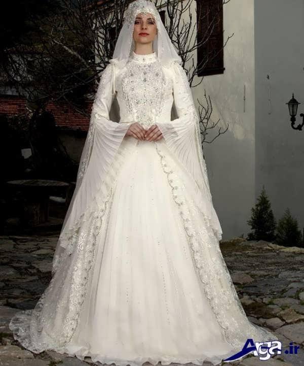 لباس عروس عربی ساده و پوشیده