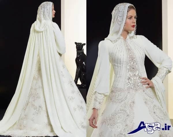 لباس عروس پوشیده جذاب عربی