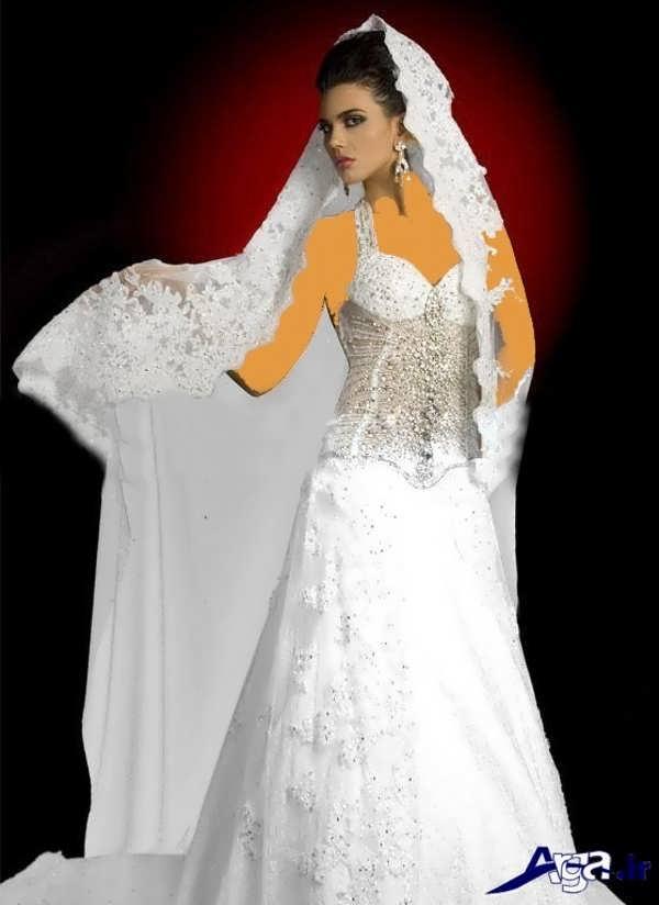 لباس عروس عربی زیبا