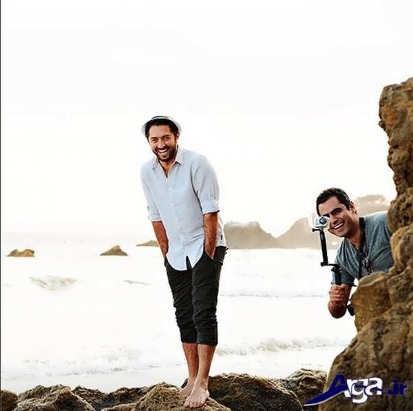 عکس بهرام رادان لب ساحل