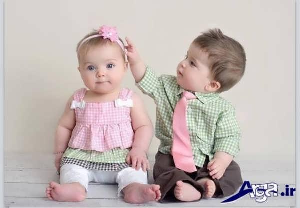 عکس بچه های ناز دو قلو