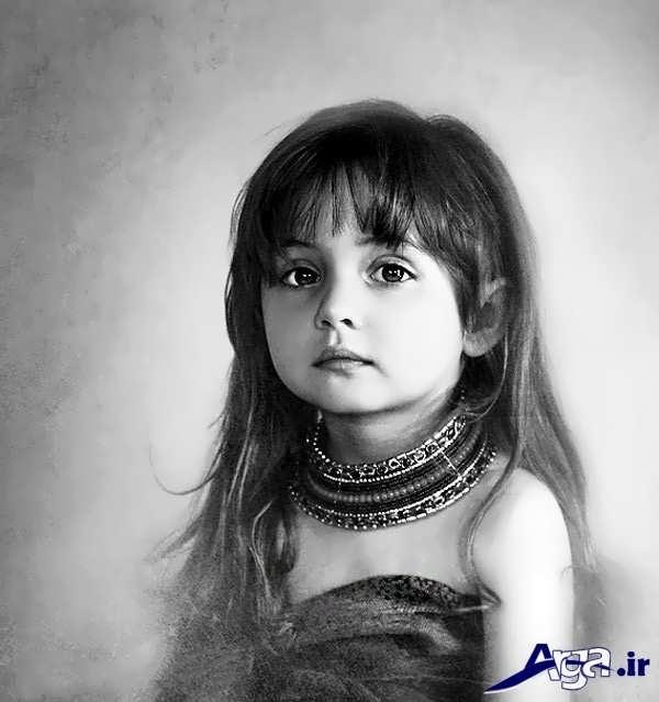 عکس بچه های ناز سیاه سفید
