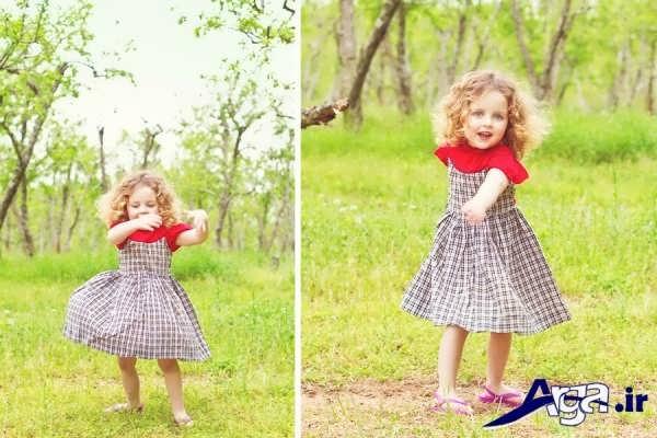 عکس دختر بچه ناز در طبیعت