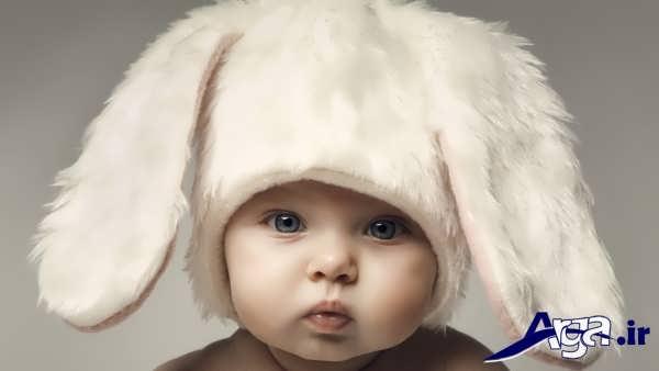 عکس بچه های ناز با کلاه زیبا