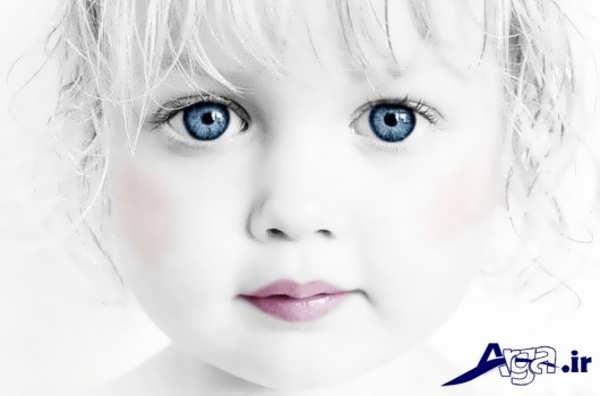 عکس بچه های ناز چشم آبی