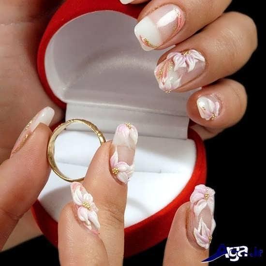 دیزاین ناخن عروس شیک و جداب