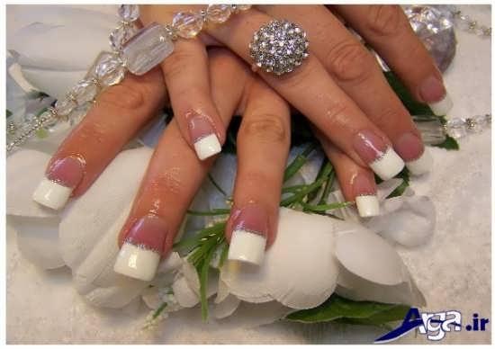 مدل ناخن عروس ساده