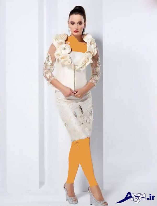 کت و دامن گیپور سفید