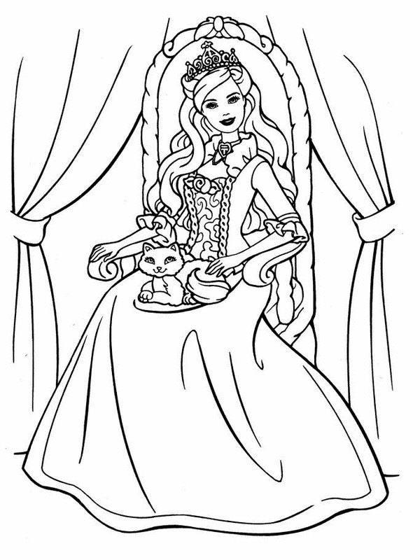 نقاشی عروسک باربی