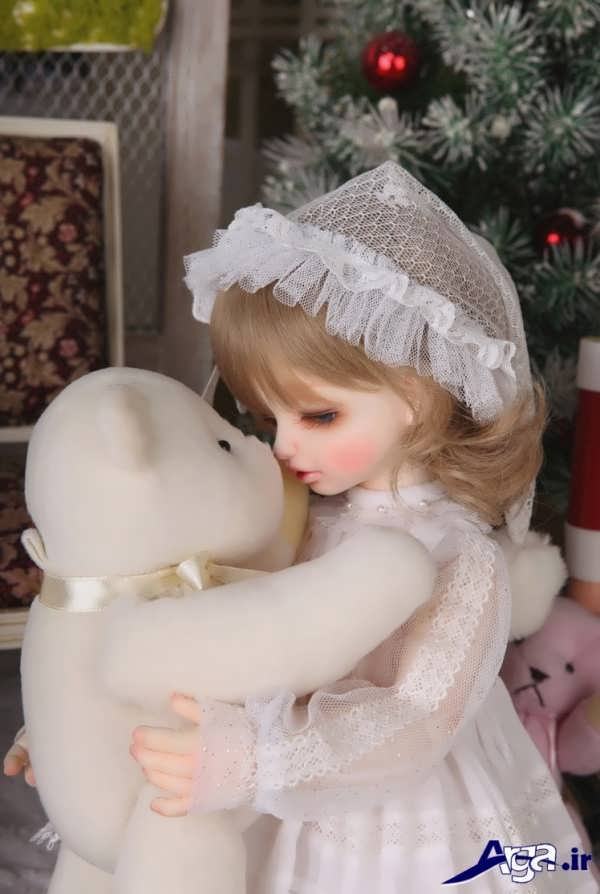 عکس عاشقانه عروسکی دختر و خرس