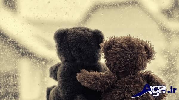 عکس عاشقانه عروسکی پشت پنجره