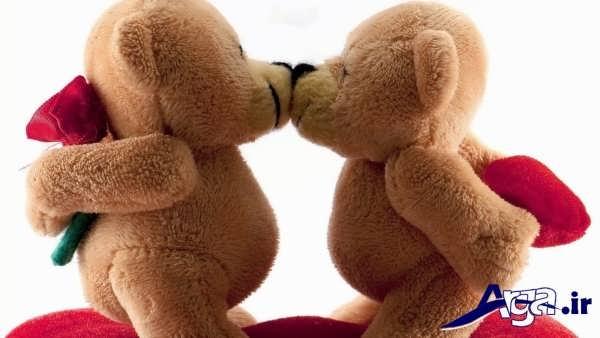عکس عاشقانه عروسکی بوسه