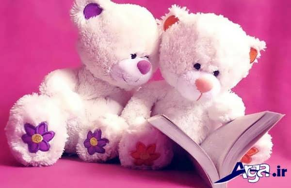 عکس عاشقانه عروسکی عروسک کتاب خوان