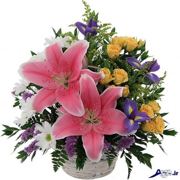 سبد گل زیبا و جدید