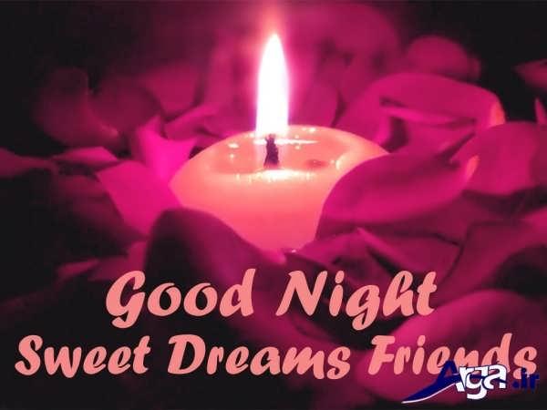 عکس شب بخیر شمع