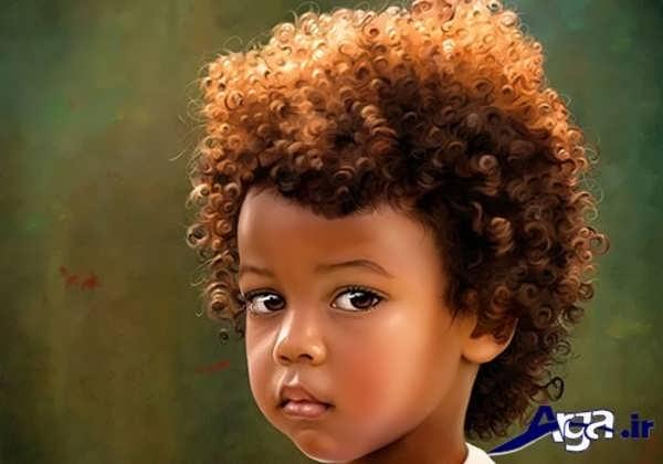 مدل موی فر بچه گانه پسر