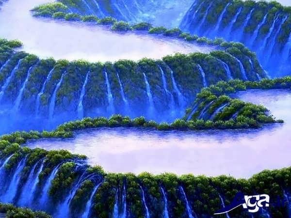 عکس آبشار عجیب و زیبا