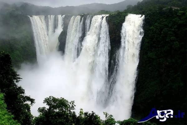 عکس آبشار بلند