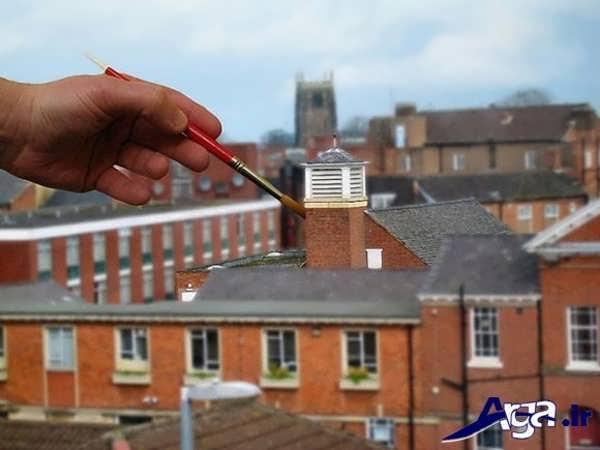عکس خطای دید ساختمان