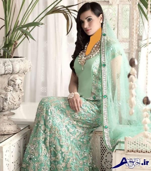 لباس عروس هندی سبز