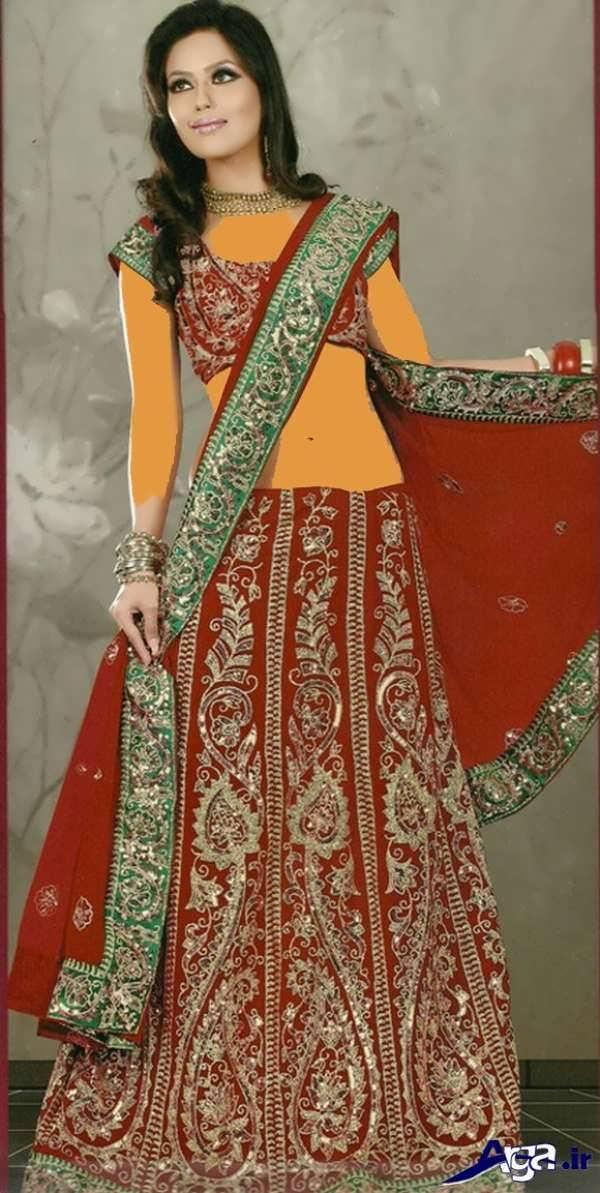 لباس عروس هندی قرمز زیبا