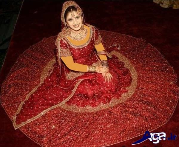 لباس عروس مدرن قرمز