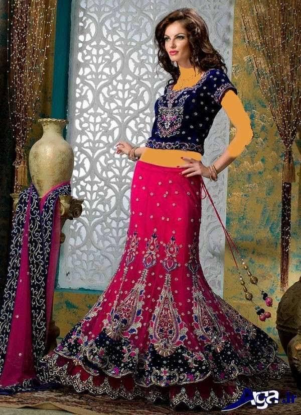 لباس عروس هندی زیبای بنفش
