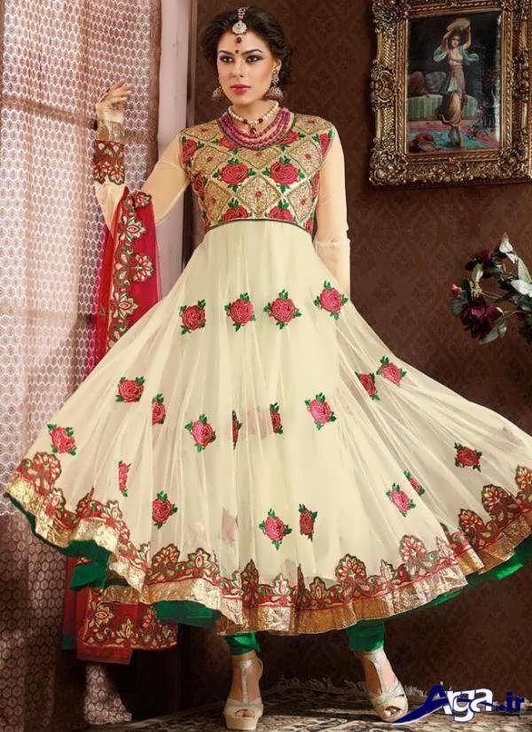 لباس عروس سفید هندی سنتی