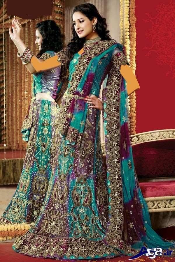 لباس عروس هندی رنگ شاد
