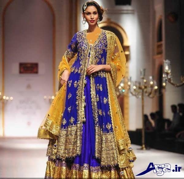 لباس عروس هندی بنفش