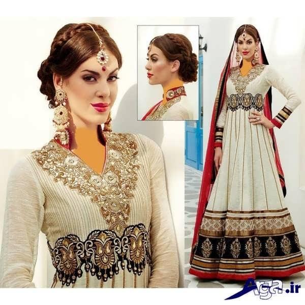 لباس عروس هندی سفید رنگ