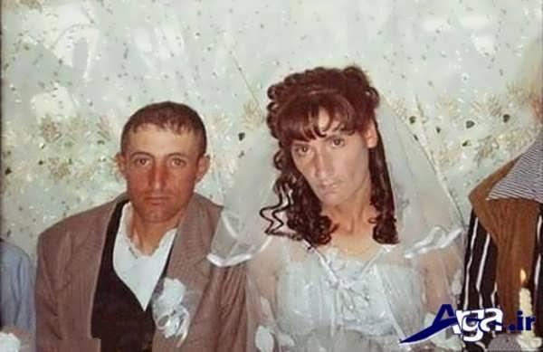 عکس جالب خنده دار عروس و داماد