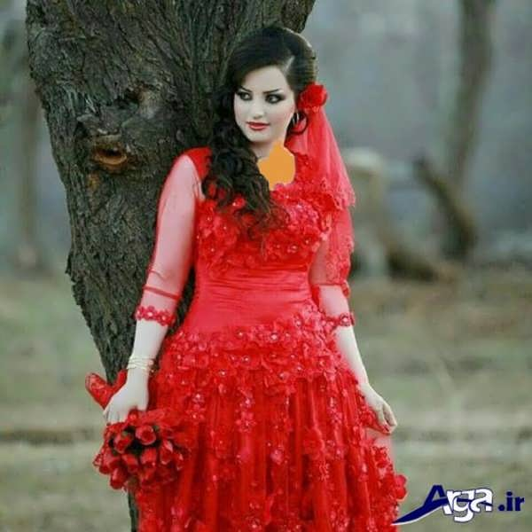 لباس عروس کردی قرمز