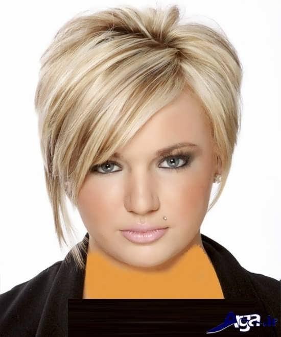 مدل موی لیر برای صورت گرد