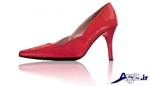 کفش پاشنه بلند زنانه قرمز
