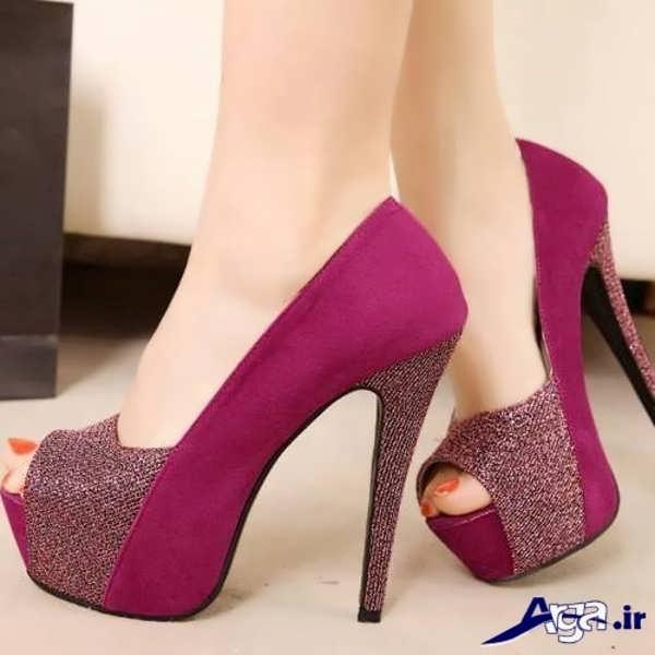 کفش پاشنه بلند زنانه بنفش