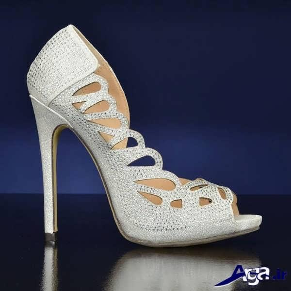 کفش پاشنه بلند زنانه سفید